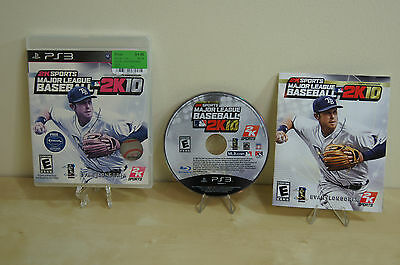 Major League Baseball 2K10  (Sony Playstation 3, 2010) ** Complete **