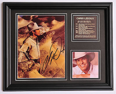 Chris Ledoux Rodeo Champion Cowboy signed photo tribute