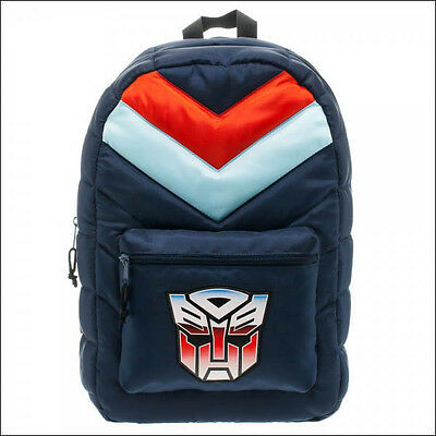 Transformers Autobots Retro Puff School Costume Backpack Book Bag LICENSED NEW