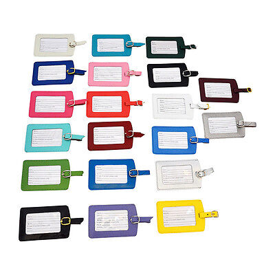 New Genuine Leather Travel Bag Tags/Luggage Labels