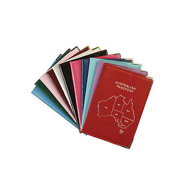 New Genuine Leather Passport Holder/Wallet/Cover - Australia Map - FREE LUG TAG