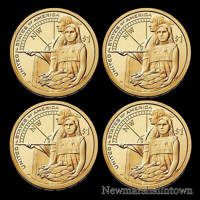 2014 P+D Native American Sacagawea Set Pos A+B from Original U.S. Mint Rolls