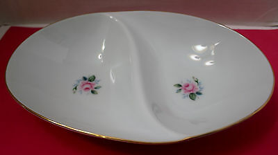 """STYLE HOUSE FINE CHINA JAPAN """"MINIVER"""" DIVIDED SERVING BOWL"""
