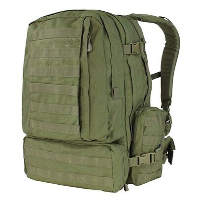 NEW CONDOR OD Green #125 MOLLE 3 Day Mission Assault Patrol Pack Hiking Backpack