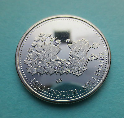 Rare 2000 Test Token Maple Leaf Map - Limited Edition Millennium Collectible