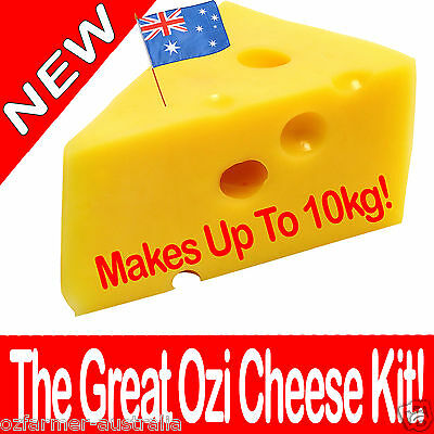 1 x The Great Ozi Home Cheese Making  Kit  DIY Cheddar Feta Mozzarella Haloumi