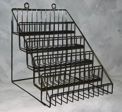 For Sale 5 Tier Multi-Purpose Wire Counter Product Display Rack (Black)
