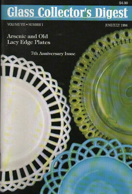 Glass Digest 6/94 Gray-Stan, Beaded & Frosted Block, Milk - Old Lacy Edge Plates