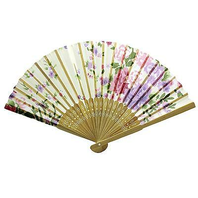 Folding Lace Handmade Chinese Flower Bamboo Hand Fan For Wedding Christmas Gift