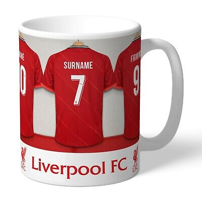 Personalised LIVERPOOL Football Club FC Dressing Room Mug Gift