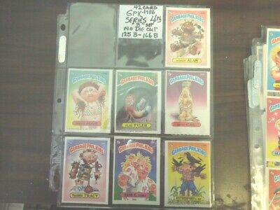 1986  86  Garbage Pail Kids GPK USA Series 4 four NO DIE CUT  Set 42B cards Mint