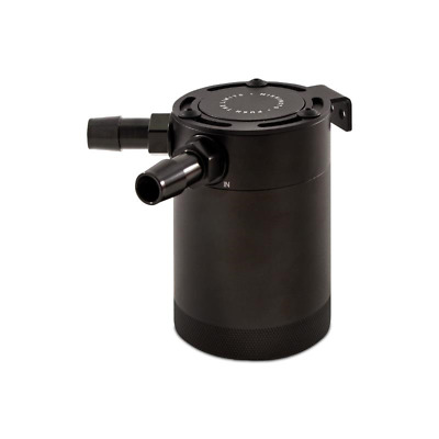 Mishimoto Compact Baffled Oil Catch Can - 2 Port - Black