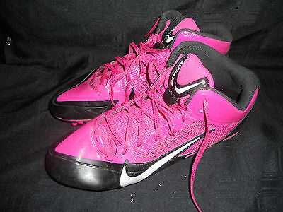 Miami Dolphins Game Used Black And Pink Cleats! *rare*
