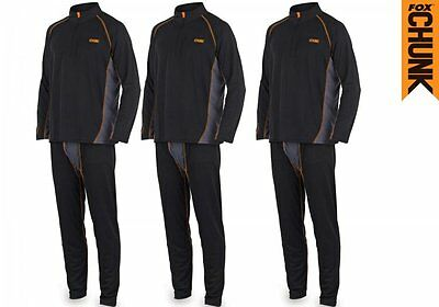 Fox NEW Chunk Base Layer Thermal Undersuit Set Carp Fishing Clothing *All Sizes*