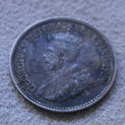 1912 Canada Canadian five cent coin nickel