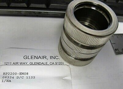 "1"" Stainless Conduit Compression Coupling Union Glenair RP2200-EM08"