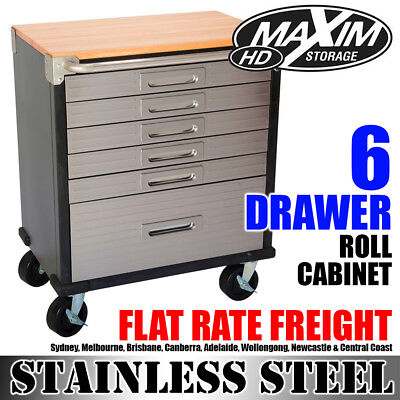 MAXIM 6 Drawer Roll Cabinet Cupboard Toolbox Chest Storage Workbench Tool Box