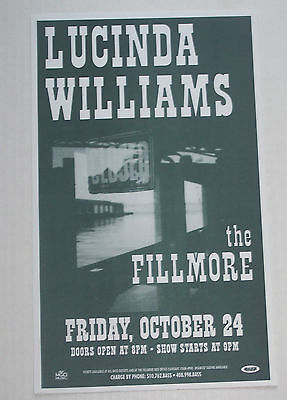 1997 LUCINDA WILLIAMS Concert Advertising Poster - The Fillmore