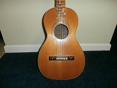 Vintage Circa 1880s Lahn Well Parlor Acoustic Guitar! Brazilian Rosewood, Ivory