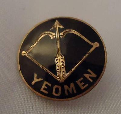 Vtg Brotherhood of American Yeomen Screwback Lapel Hat Pin Button Bow and Arrow