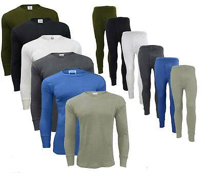 Men Thermal Long Johns Bottoms Trousers Long Sleeve T Shirt Top Vest Ski Wear
