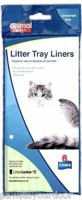 Cat Litter Tray Liners 55 x 40cm Liner 6pk  Animal Instinct  No Rip, Disposable
