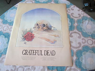 Grateful Dead Vintage Stanley Mouse 81 European Tour Poster