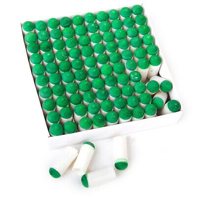 Pro 100pcs 9mm Slip On Table Pool Snooker Billiard Cue Stick Tips Replacement