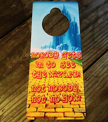 The Wonderful Wizard of Oz Sign. Decor Blue Yellow Brick Road Not a Disney Book