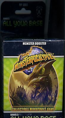 Monsterpocalypse All Your Base Series 3 Monster Booster Pack MINT