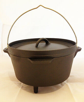 Nomad 4.25 Litre Cast Iron Dutch Oven for Bushcraft & Outdoor Camp Fire Cooking