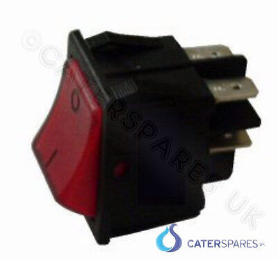 16Amp Red Rocker Switch Power On/off Double Pole 4 Pin 22X31Mm 240V Part Csuk