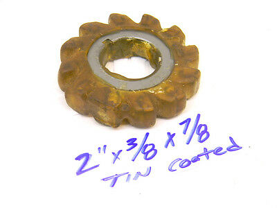 """RE-TIPPED CARBIDE TIPPED MILLING CUTTER 2.00"""" Dia x .375"""" Width x .875"""" Hole"""