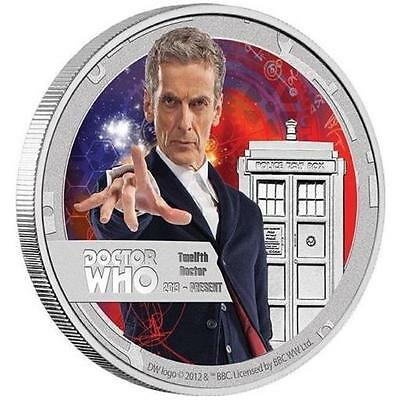 Niue 2015 1 $ Doctor Who 12th Twelfth Doctor 1/2 Oz Proof Silver Coin