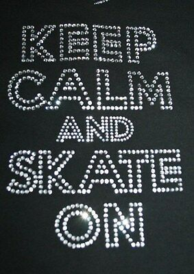 Clear Crystal Iron On Motif, Transfer , For Ice Roller Inline Skating T Shirts