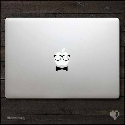 Geeky Glasses with a Bow Macbook Decal / Macbook Sticker