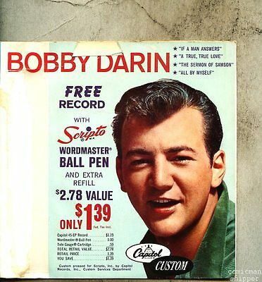 VINYL 45 EP & Picture Sleeve Bobby Darin - Scripto Promo / If A Man Answers