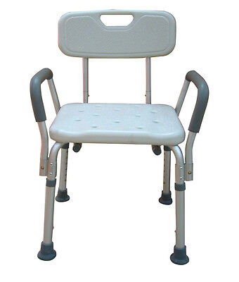 Medical Bath Seat Shower Bathtub Bench Chair With Back With 7 Levels Adjustment