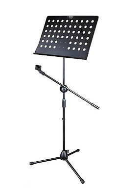 Professional TRIPOD Sheet Music STAND with Microphone Holder/Clip BS-07