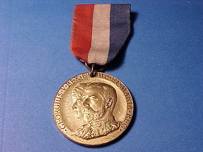 1911 Great Britain Medal w Ribbon King George V/Queen Coronation, Nice