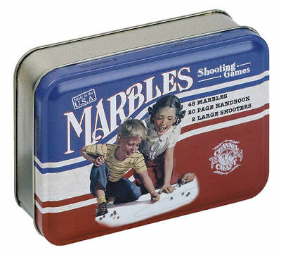 Marbles Shooting Game Classic Series in a Tin Box Made in USA Channel Craft