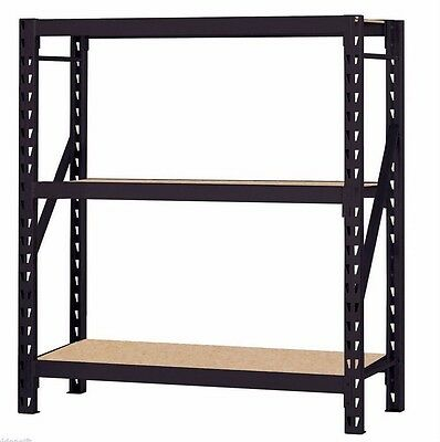 Heavy Duty Storage Shelving Solid Sturdy Racks Commercial Industrial Warehouse