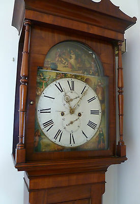 GRANDFATHER CLOCK LATE 18TH EARLY 19TH CENTURY - J. TEMPLETON, AYR
