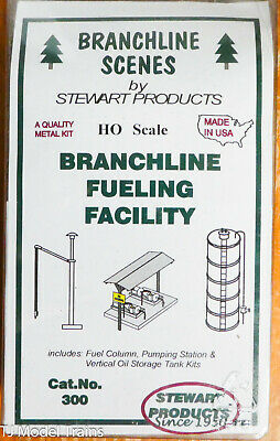 Kit form Stewart HO Scale #120 Water Pumping Facility w//Tank