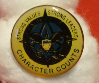 """Round 2001 Friends of Scouting (FOS) Pin - 3/4"""" Diameter - Epoxy Dome -"""