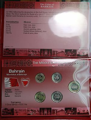 History of Bahrain 5 Foreign Coins Free S/H!!!
