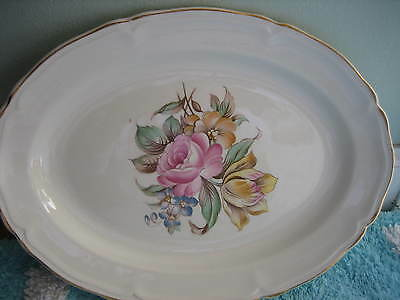 """12"""" OVAL EDWIN KNOWLES SERVING PLATTER  45-11 USA"""