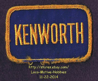 LMH PATCH Badge  KENWORTH TRUCKS Tractor Trailer Semi KW PACCAR Yellow Blue used