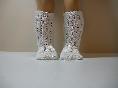 Fits 15 Inch Tiny Tears Doll .... White Fancy Knit Socks .... S0