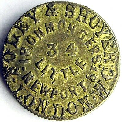 Unofficial Farthing_Middlesex_London_Foley + Shoyer Ironmongers_19th century